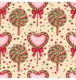 Sugar candies seamless background vector