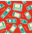Seamless mobile devices background vector