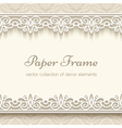 Paper lace background vector