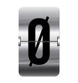 Alphabet silver flipboard letters oe vector