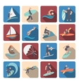 Water sports icons set colored vector