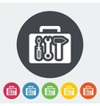 Tool box single icon vector