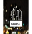 Urban concept skyscrapers line art design vector