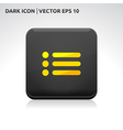 List of contacts icon gold vector