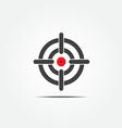 Symbol of crosshair vector