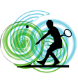 Woman playing tennis vector
