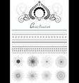 Brushes and patterns in original style vector