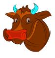 Cow face vector