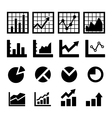 Chart and diagram icon vector