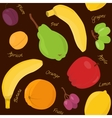 Cartoon fruit seamless pattern vector