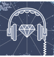 Headphones jewel icon vector