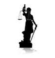 Themis goddess of justice vector