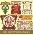 Label art nouveau vector
