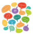 Colorful set of speech bubbles russian language vector