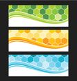 Set of wave background banner or header vector