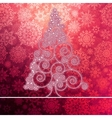 Christmas card with stylized pink glowing  eps8 vector