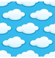 Seamless pattern of white fluffy clouds vector