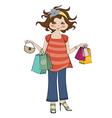 Woman at shopping vector