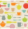 Seamless dishes vector