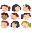 Children faces vector