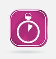 Stopwatch color square icon vector