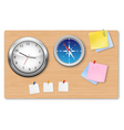 A wall office clock compass vector