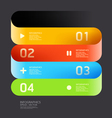 Modern curve color design template vector