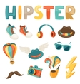 Hipster style elements and objects set vector
