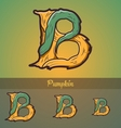 Halloween decorative alphabet - b letter vector