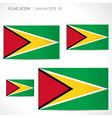 Guyana flag template vector
