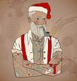 Hipster santa claus vector