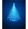 Christmas tree from light vector