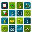 Jewelry icon set vector