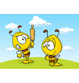 Angry bee - funny vector