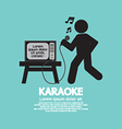 Karaoke singer black symbol vector