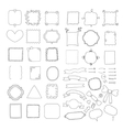 Set of handmade frames ribbons and arrows vector
