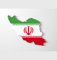 Iran map with shadow effect presentation vector