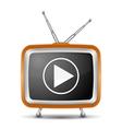 Retro tv icon vector