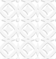 White rhombuses and white ornament vector