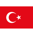 Background of turkey flag original proportions and vector