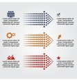 Abstract infographic with dots arrows vector