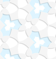 White and blue geometrical seamless pattern vector