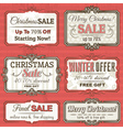 Christmas labels with sale offer vector