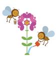 Bees at work vector