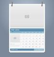 Clean calendar 2013 template design vector