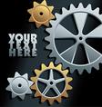 Machine gears background vector