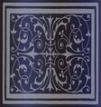 Abstract dark blue background of elegant vintage vector