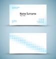 Set of modern business card template vector