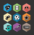 Entertainment icons set flat vector