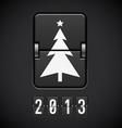 Scoreboard christmas tree vector